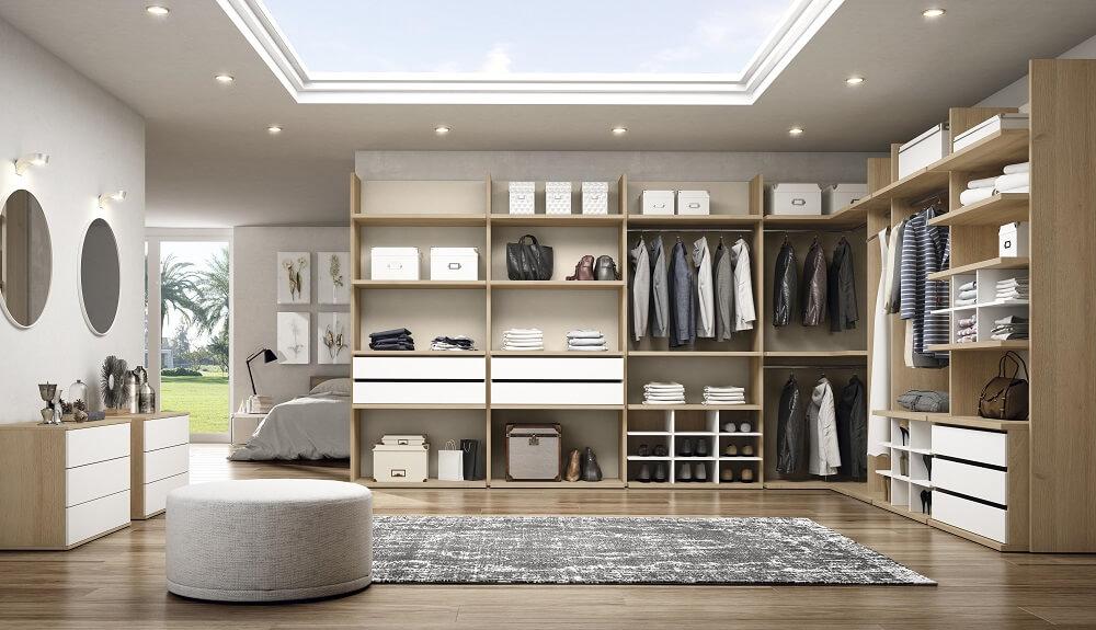 Dise o de armarios y vestidores modernos abiertos o - Armarios abiertos baratos ...